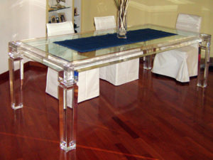 Acrylic Dinner Table 'Afrodite' Poliedrica