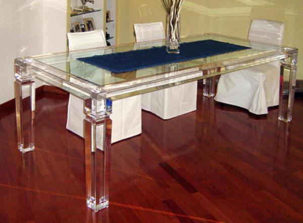 Acrylic Dinner Table 'Afrodite' Poliedrica