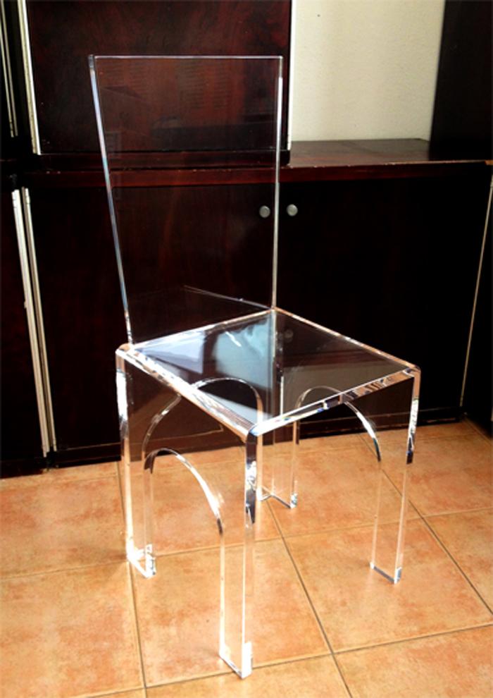 sedia in plexiglass 39 3 archi 39 arredamento in plexiglass