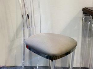 Sedia In plexiglas e accaio inox Costantinopoli cm43x35h113