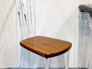 Sedia In plexiglas e legno Costantinopoli Poliedrica