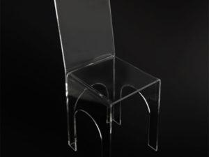 Sedia in plexiglas Poliedrica