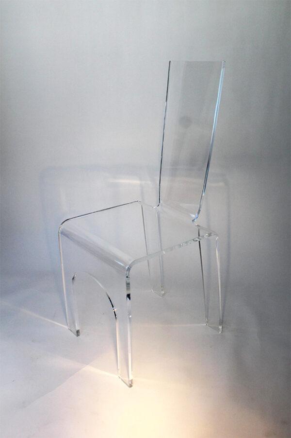 Sedia in plexiglass Poli